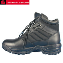 Security Staff Sport Military Tactical Boots Grain Leather Nylon Quater Army EVA Rubber Mould Outsole