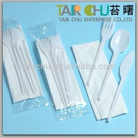 16.5cm Disposable Plastic Cutlery Kit