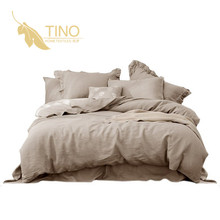 High quality made in china bed 100% linen bedding set Suitable for summer