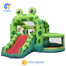Inflatable jumping castle, cheap frog bounce house,high quality inflatable bouncy castle with slide