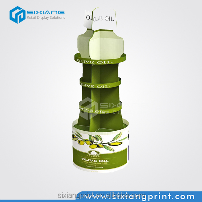 4 Side Beauty Shop Cardboard Exhibition Display for Olive Oil