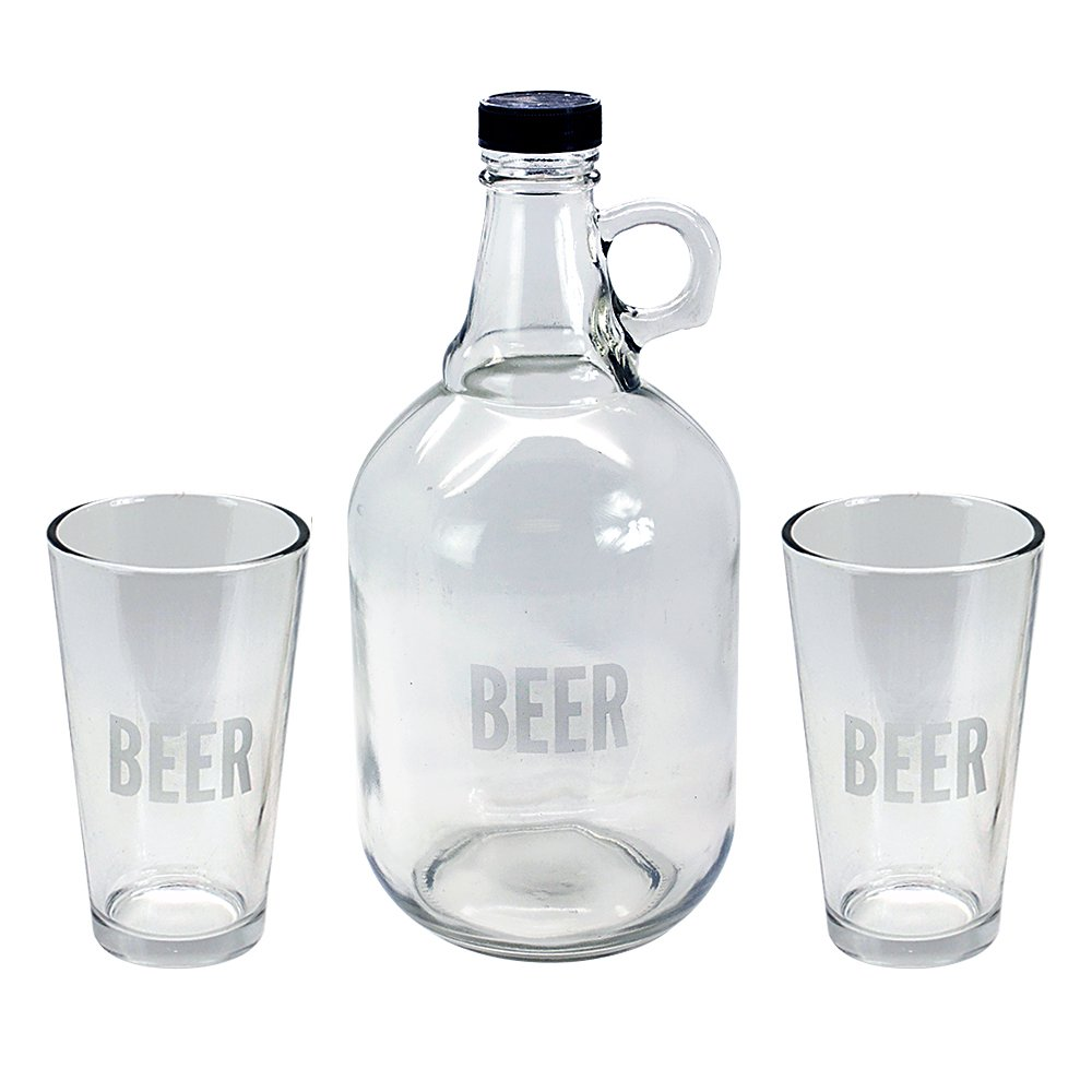 f9c52f0db Get Quotations · TMD Holdings Etched Beer Growler for Hipsters with Pints  Craft Beer Taster Gift Set