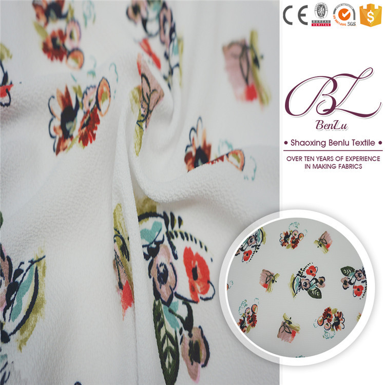 Beautiful metallic silk dress patterns printed polyester bubble chiffon fabric
