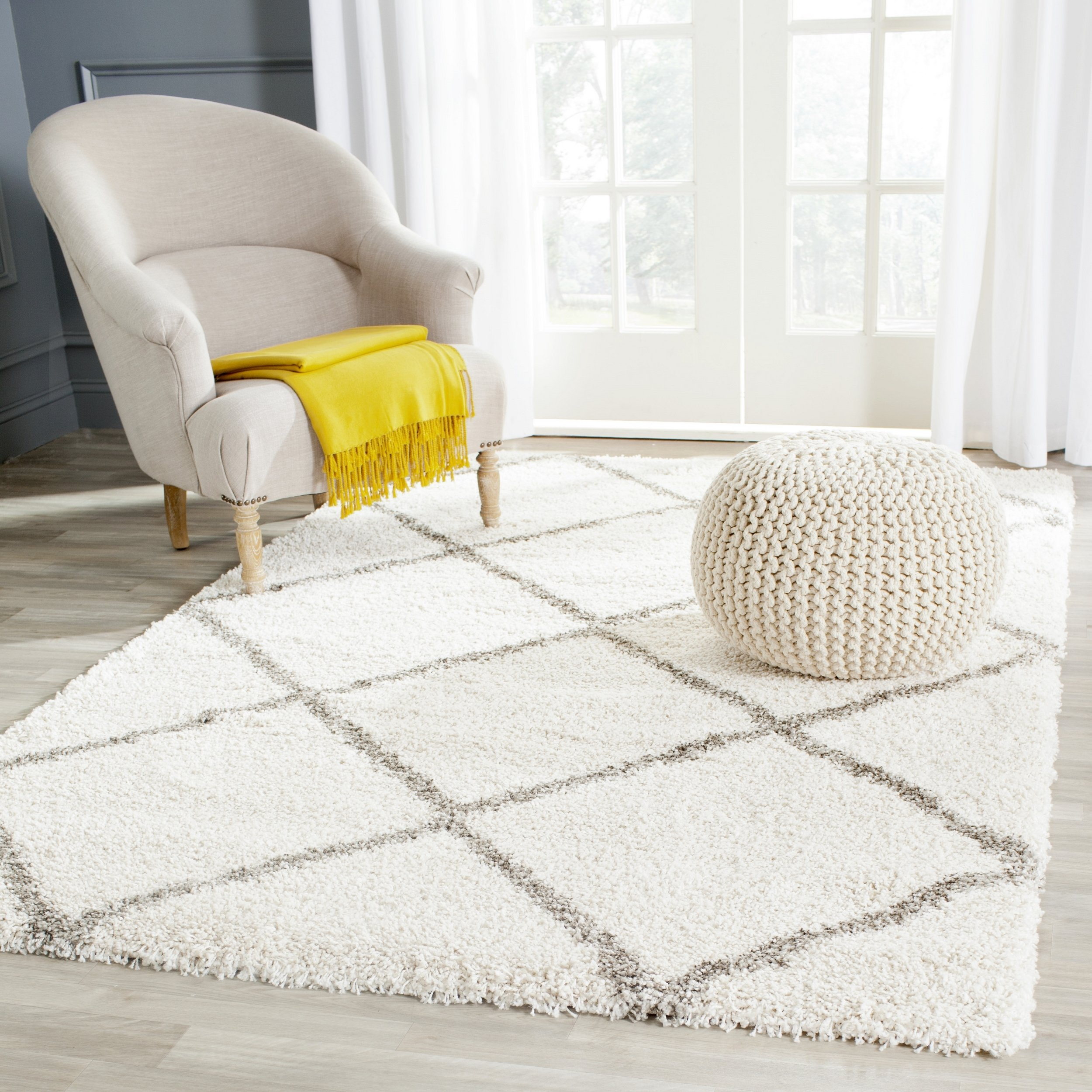 coventry hudson rug way ivory beef shag safavieh products grey x diamond