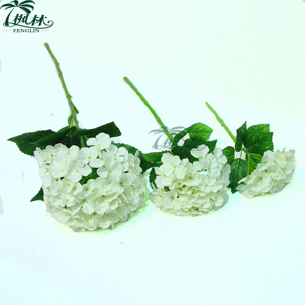 Wedding Decorative White Hydrangea Flower Factory Wholesale