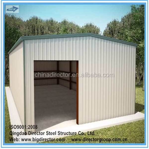 China made galvanized light weight steel garage steel structure prefabricated storage building