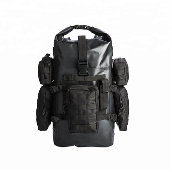 Custom logo best high quality tactical 500D PVC tarpaulin durable army rucksack le city hiking waterproof dry military backpack