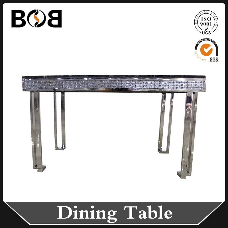 Wholesale luxury granite dining table with metal support for Dining table support