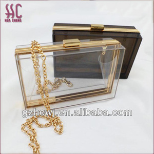 transparent acrylic clutch, clear acrylic bag