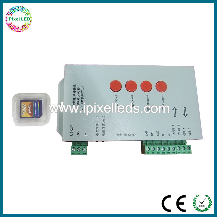 store maximum 16 documents sd card digital spi signal ic led controller T1000