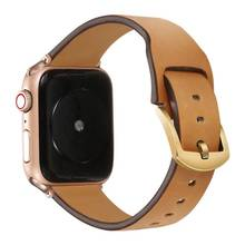 Роскошная лента для наручных часов Apple watch, 42 мм, 38 мм, версия для наручных часов Iwatch серии 4/3/2/1 ремень из натуральной кожи 40 мм 44mmseries 5(Китай)