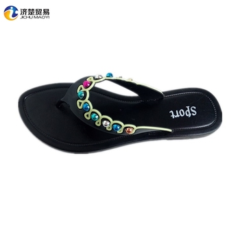 a20b073852fde Fashion beautiful beads slippers girls cheap wholesale slippers for women