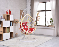 hot sale bamboo swing chair one seat garden chair
