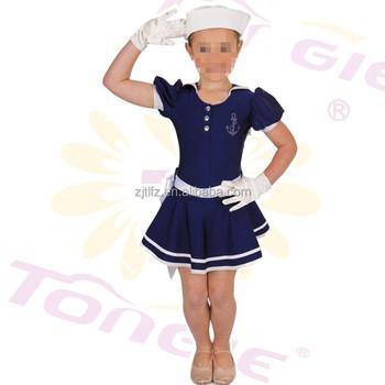 4933a70f7 Lindo azul marino bebé niña traje de marinero de disfraces para niños