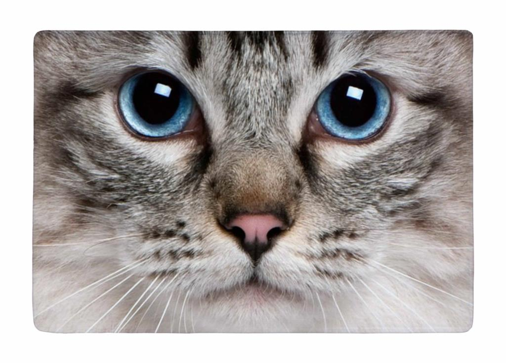 tapis de sol de gros chat mignon animal visage imprimer personnalis non slip tapis tapis. Black Bedroom Furniture Sets. Home Design Ideas