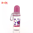 Custom factory BPA free standard neck baby feeding bottle with handle