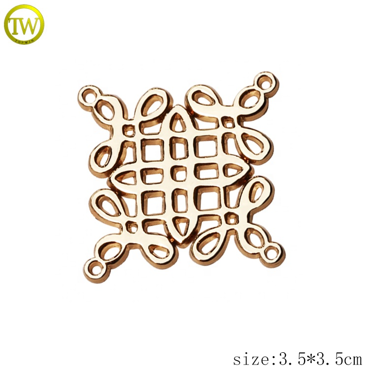 Custom garment hollow metal letter logo metal lettering tags for clothing