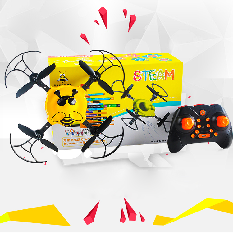 Makerfire the first image programmable DIY drone kit RC quadcopter for steam education