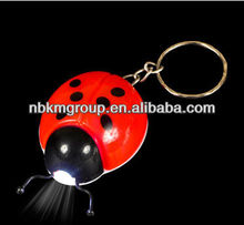 hot ladybug flashlight keyring