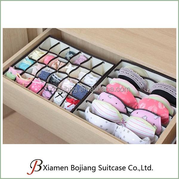 Conjunto de 4 plegable separadores de caj n cajas de almacenamiento closet organizadores - Organizador de ropa interior ...