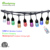 Chinlighting IP65 waterproof remote control RGB chasing color change RGBW S14 Plastic bulb LED String Light