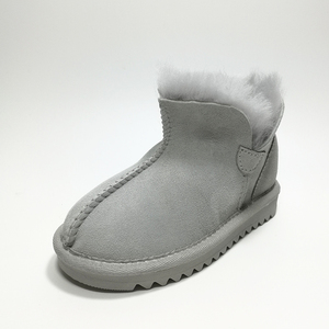 free sample lowest price cow suede leather color selection winter snow boots for ladies/women