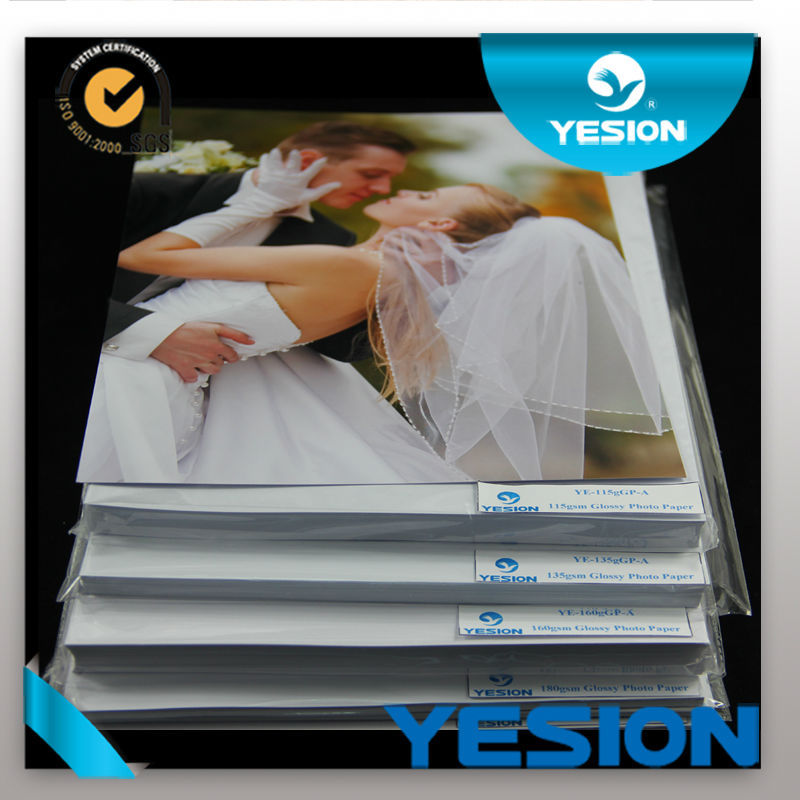 Yesion Professional Manufacturer 260gsm Inkjet Printing RC Glossy Photo Paper A4 A3 size Waterproof