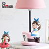 Roogo resin latest design home bedroom decor cartoon Alice girl shape study table lamps for children gift