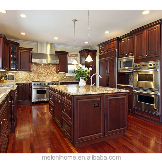 Luxury Classic American Cherry Solid Wood Kitchen With Gas Stove Cabinet  And Cheap Kitchen Island - Buy American Cherry Solid Wood Kitchen,Gas Stove  ...