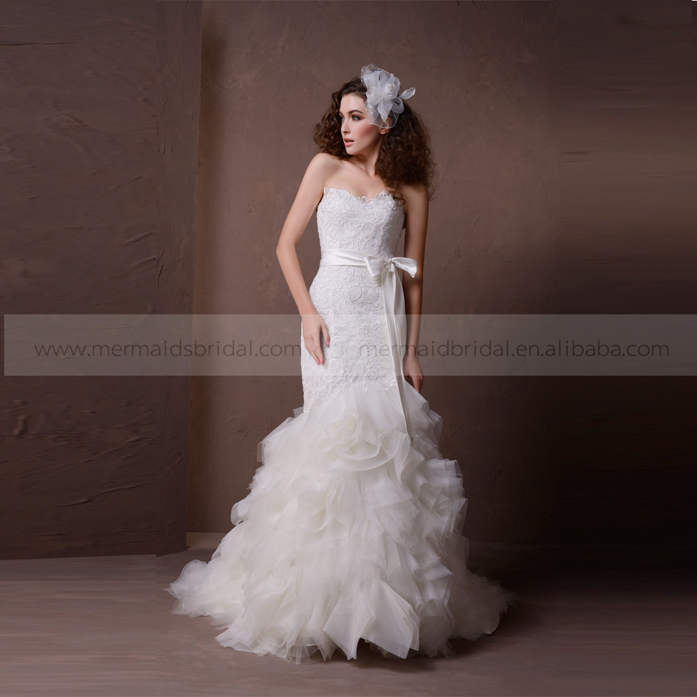Wedding Dress With Ruffles And Sash Supplieranufacturers At Alibaba