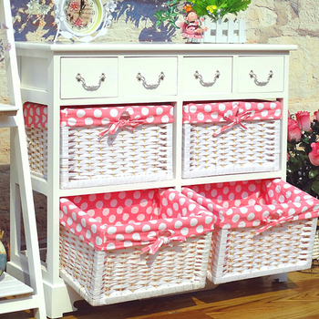 Living Room Wicker Furniture Wood Cabinet White Wicker Chest Of ...