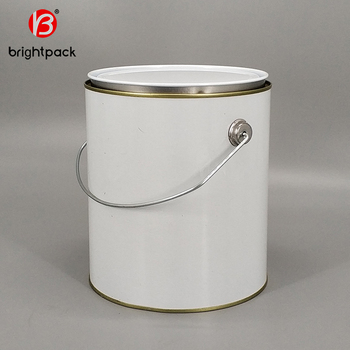 1 Gallon Empty Metal Clear Paint Tin Cans With Pry Lids And Plastic Handle Buy 1 Gallon Empty Metal Paint Can 1 Gallon Paint Can 1 Gallon Tins