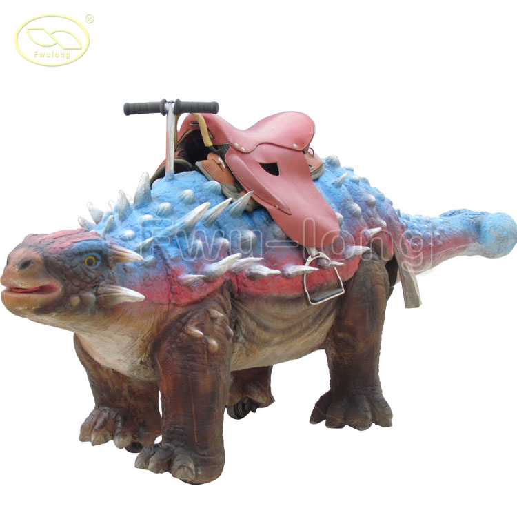 High quality Park Mechanical Kid Ride On Electric Fiberglass Walking Dinosaur