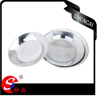 Cheap price indian dinnerset stainless steel deep dishes dinner plates with custome logo