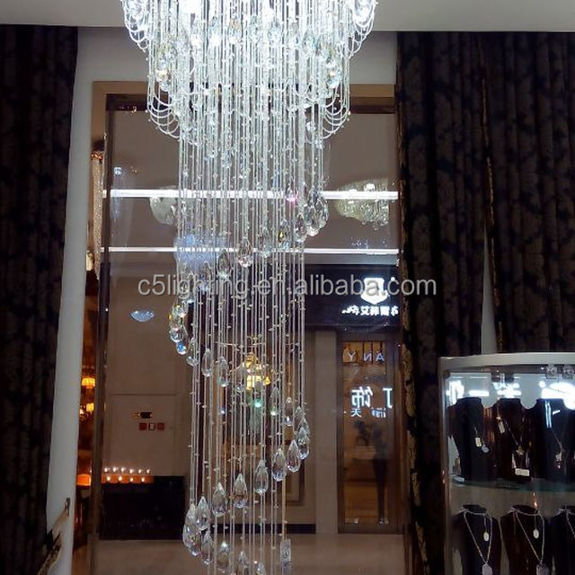 Modern Decor Chrome Hanging Crystal Chandelier Lighting