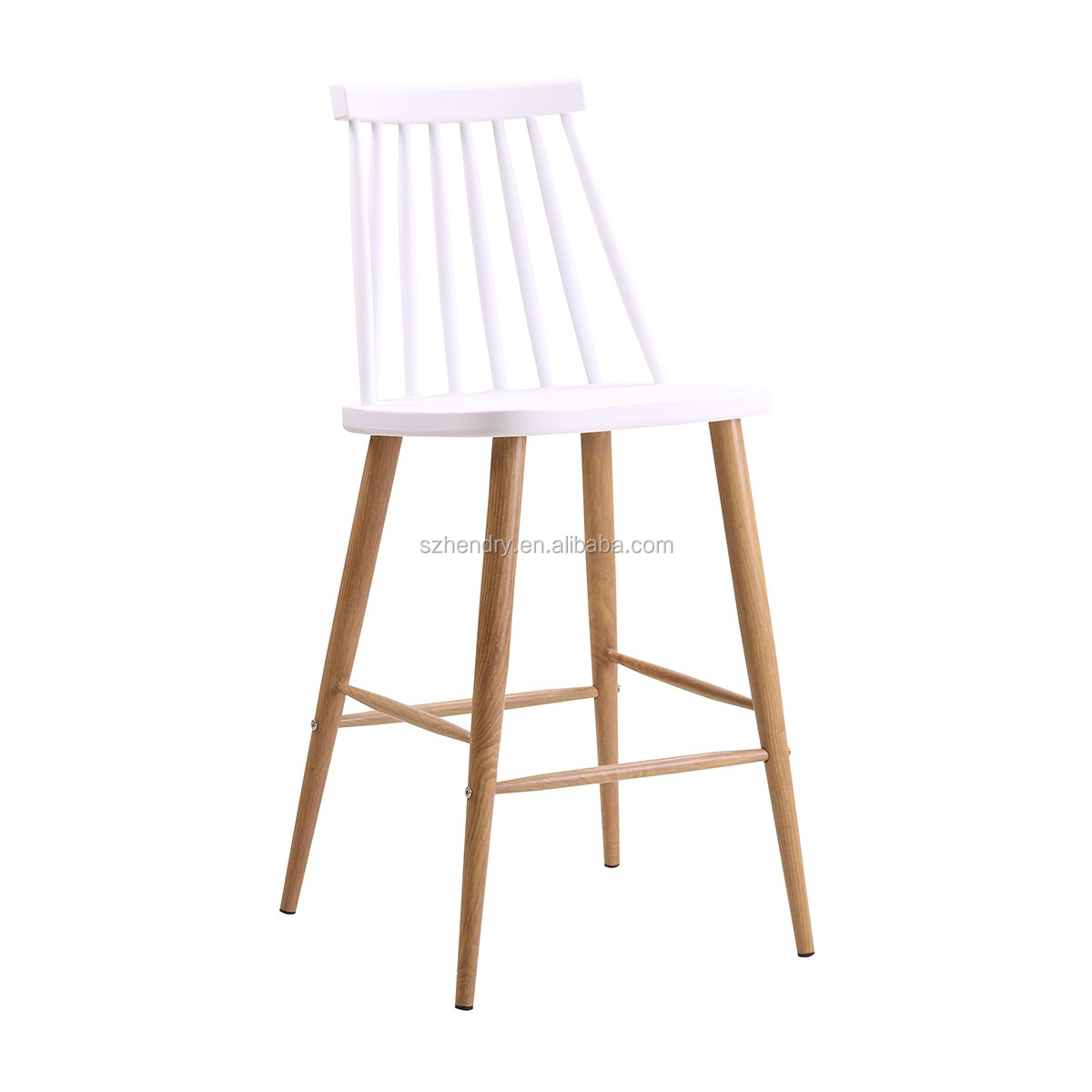 Outdoor Wooden High Back Counter Stools Bar Chairs Sale