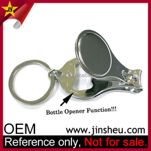 Wholesale Promotion Custom Engraved Stainless Steel Nail Clipper Keychain