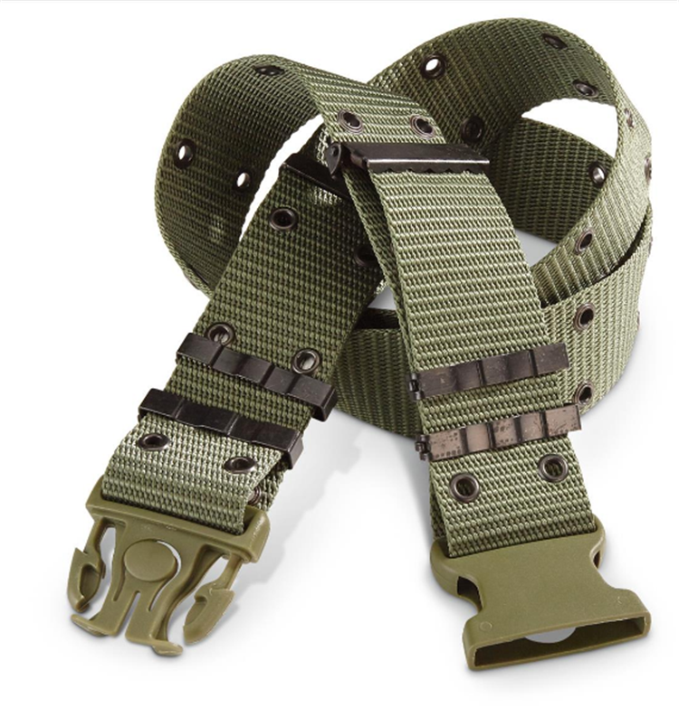 Wholesale Mens High Strength Durable Nylon Heavy Duty Adjustable Webbing Military Tactical Belt
