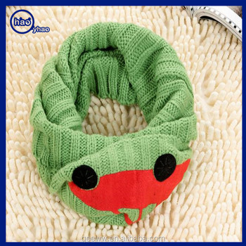 Cute Winter Thick Neck Warmer Plush Children Scarf With Lovely