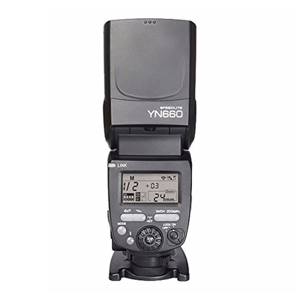 Chunnuan Shop YONGNUO YN660 (Updated Version of YN560-IV) 2.4GHz Flash Speedlite Wireless Transceiver Integrated for Canon Nikon Pentax Olympus DSLR Cameras Support Wireless Slave Function