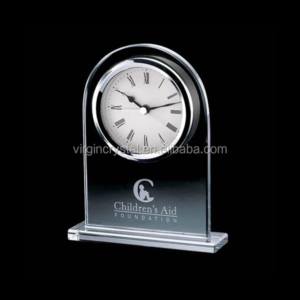 Elegant Personalized Crystal Big Desk Clock For Table Decoration And