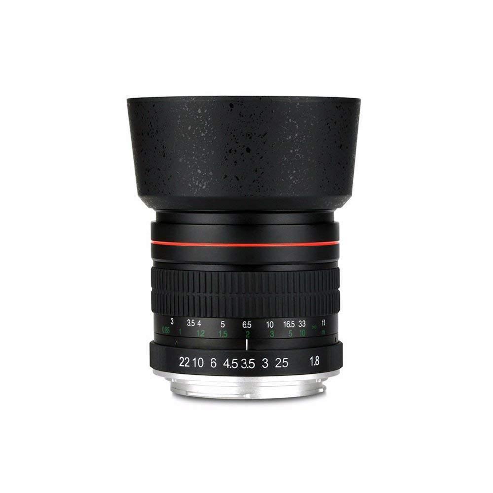 Lightdow 85mm F/1.8 Medium Telephoto Portrait Prime Manual Focus Full Frame Lens for Canon Rebel T7, T7i, T6, T6i, T5, T5i, S