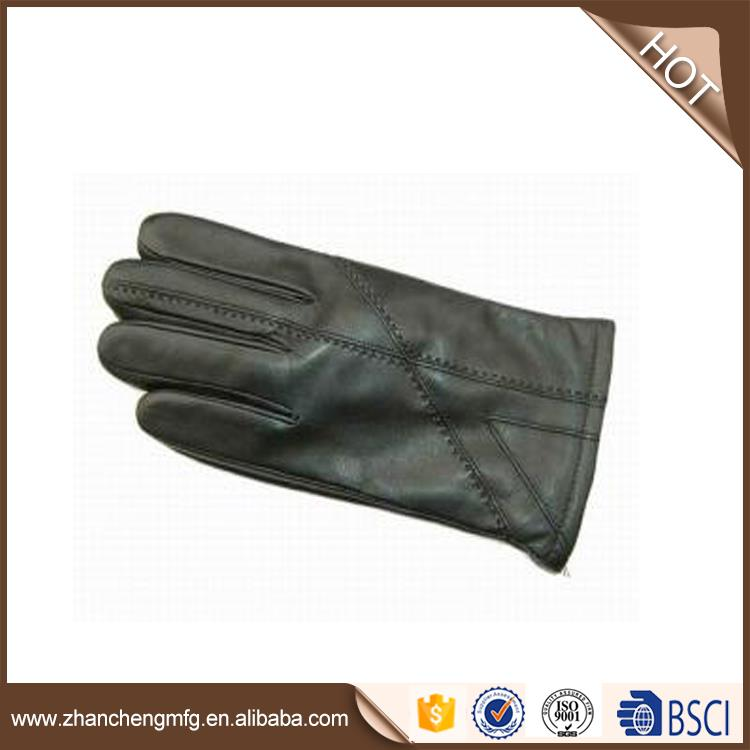 Multifunctional goat skin leather gloves made in China