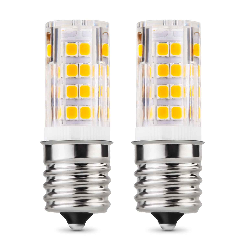 Albrillo E17 LED Bulb Microwave Oven Appliance Light Bulb 4W, 40 Watt Equivalent, 3000K Warm White, Intermediate Base, Non-dimmable, 2 Pack
