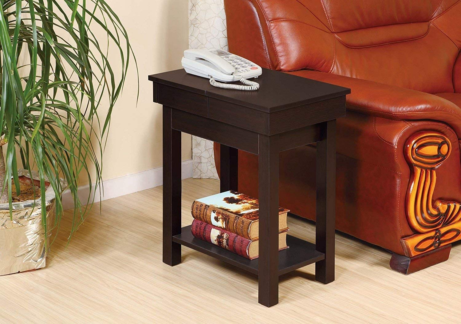 Indoor Multi-Function Accent Table Study Computer Home Office Desk Bedroom Living Room Modern Style End Table Sofa Side Table Coffee Table Seat table