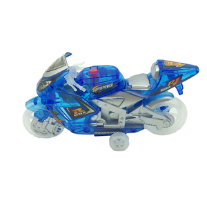 Stunt speed music motorbike friction toys