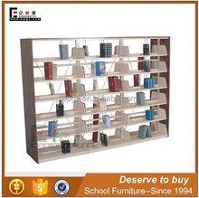 New design heavy duty metal library bookshelf