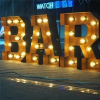 Guangzhou factory marquee wedding letters giant LOVE letters bulb letter sign