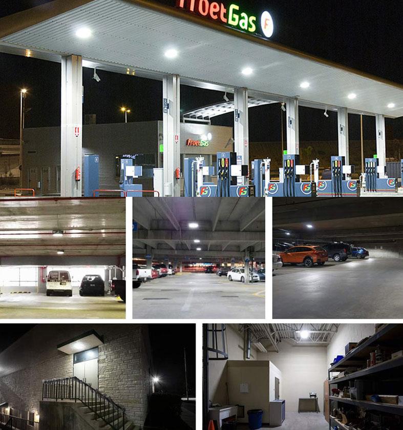 Garage Canopy 60W 80W 100W 120W LED Car Parking Canopy Light Park Lot Lighting