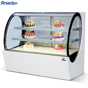 High Quality Tempered Glass Showroom Bakery Counter Cake Bread Display Showcase Cabinet